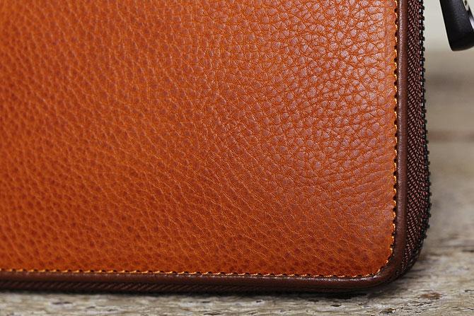 ラウンド財布 メンズ ミネルバボックス バギーポート zys 1300 キャメル素材アップ