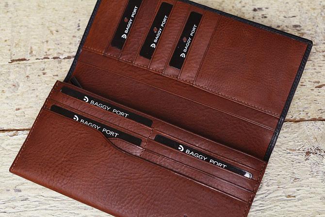 メンズ かぶせ束入れ 長財布 ミネルバボックス バギーポート zys 1301 カード入れ