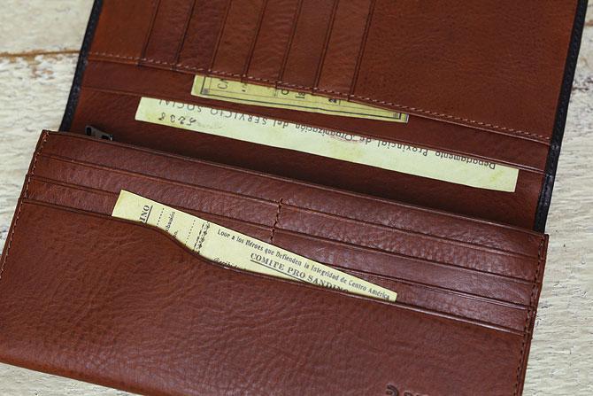メンズ かぶせ束入れ 長財布 ミネルバボックス バギーポート zys 1301 収納スペース