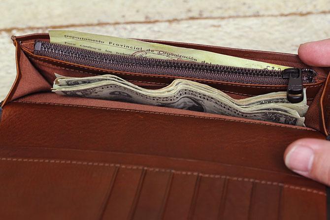メンズ かぶせ束入れ 長財布 ミネルバボックス バギーポート zys 1301 収納スペース2