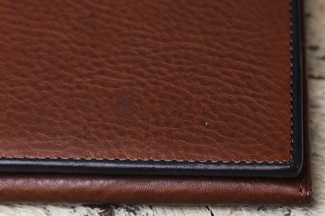 メンズ かぶせ束入れ 長財布 ミネルバボックス バギーポート zys 1301 ブラウン素材アップ