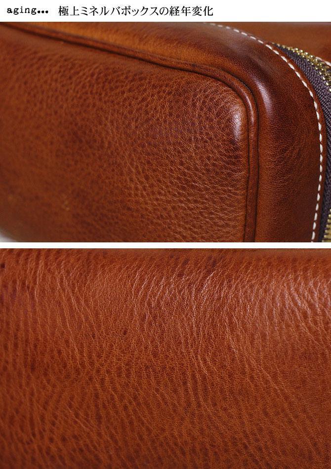 メンズ かぶせ束入れ 長財布 ミネルバボックス バギーポート zys 1301 ミネルバボックス経年変化