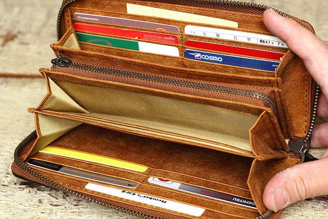 レザー ラウンド長財布 イタリアンレザー zys 2400 カード入れ