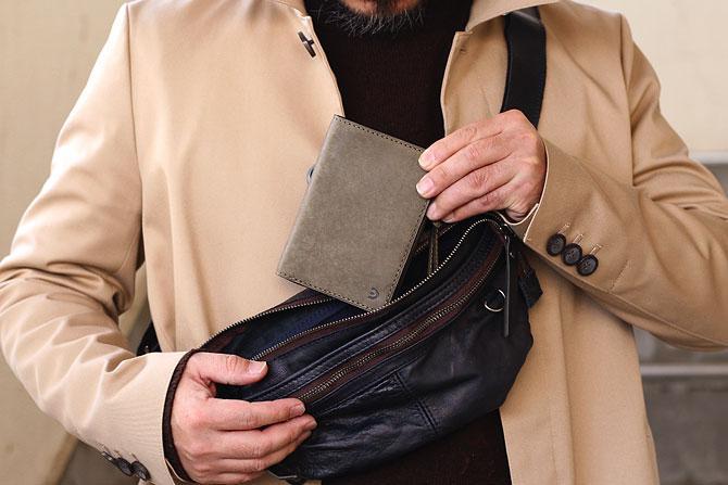 レザー 二つ折り財布 イタリアンレザー zys 2402 イメージ画像2