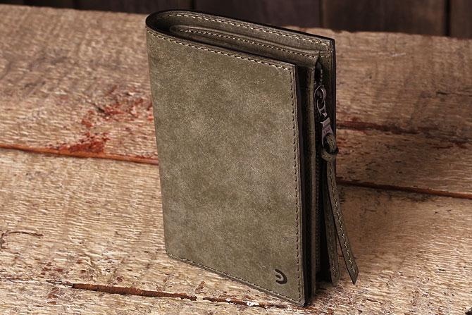 レザー 二つ折り財布 イタリアンレザー zys 2402 グレー