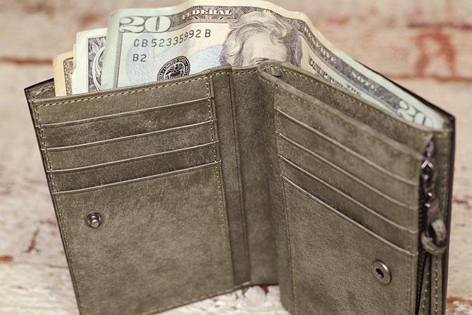 レザー 二つ折り財布 イタリアンレザー zys 2402 札入れ