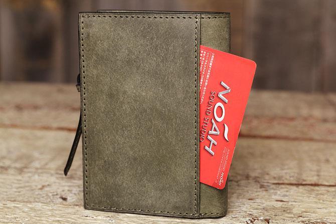レザー 二つ折り財布 イタリアンレザー zys 2402 外ポケット