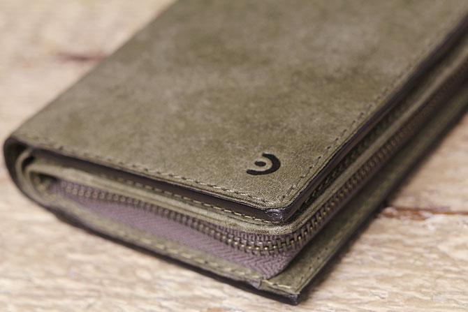 レザー 二つ折り財布 イタリアンレザー zys 2402 角部分1