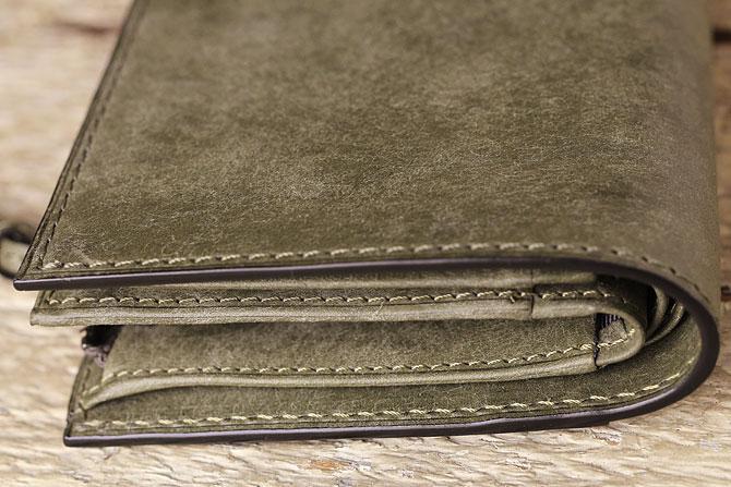 レザー 二つ折り財布 イタリアンレザー zys 2402 角部分3