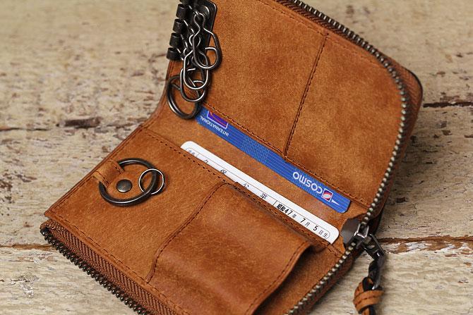 レザー キーケース イタリアンレザー zys 2405 スマートキー・インテリジェントキー対応 収納ポケット