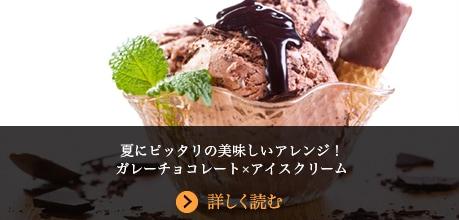 夏にピッタリのアレンジ!ガレーチョコレート×アイスクリーム