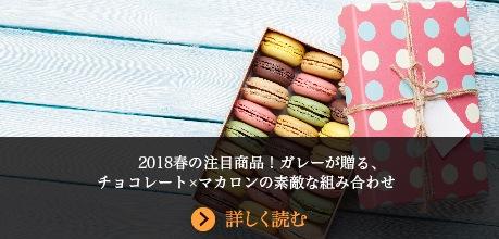 2018年春の注目商品!ガレーが贈る、チョコレート×マカロンの素敵な組み合わせ