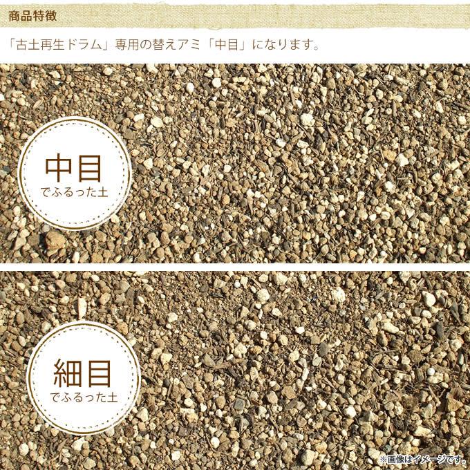 「古土再生ドラム」専用替えアミ 細目1枚