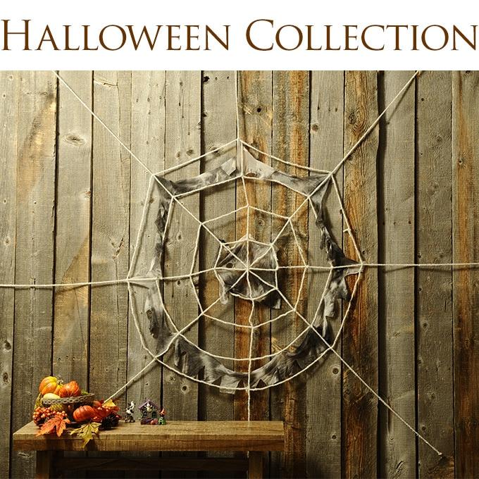 ハロウィン雑貨 壁掛け飾り 蜘蛛の巣 白  壁飾り インテリア 装飾 ディスプレイ クモ ホワイト 洋館 ウォールデコ 楽しく 家族で スパイダー