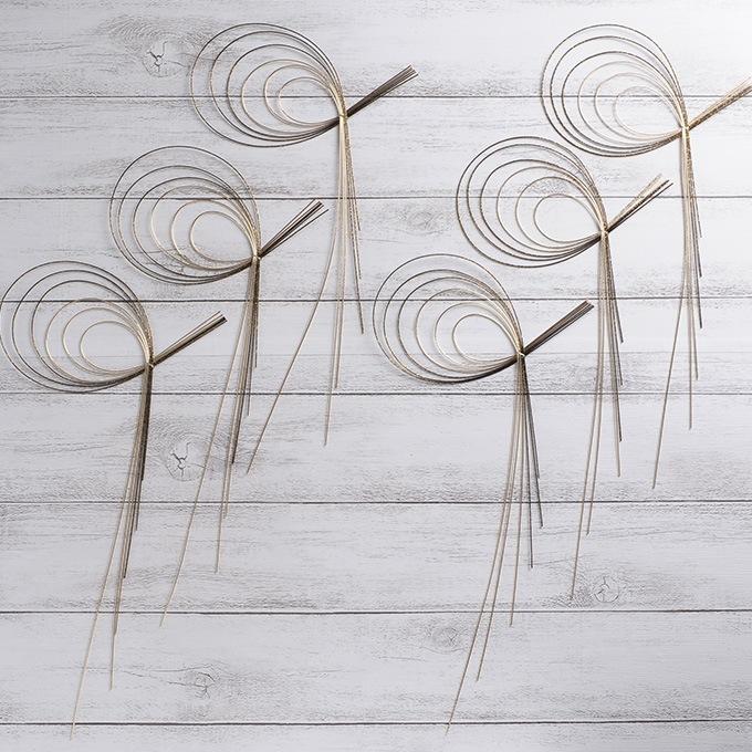 正月飾り 水引飾り輪 6P  和モダン 正月 手作り 材料 パーツ 玄関 縁起 オリジナル 和風 年初め おしゃれ 楽しく 準備 迎春