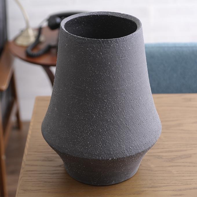 和菓子のような 和風 花器 筒形S  陶器 花瓶 フラワーベース 活け花 生け花 和室 玄関 客室 客間 活花 生花 華道 日本 プランターベース