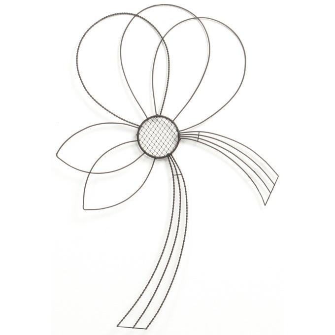 アイアン壁掛け 華の舞 水引き L  ワイヤー オブジェ アイアン かわいい 白 インテリア 飾り 装飾 ディスプレイ フラワーアレジメント 楽しく