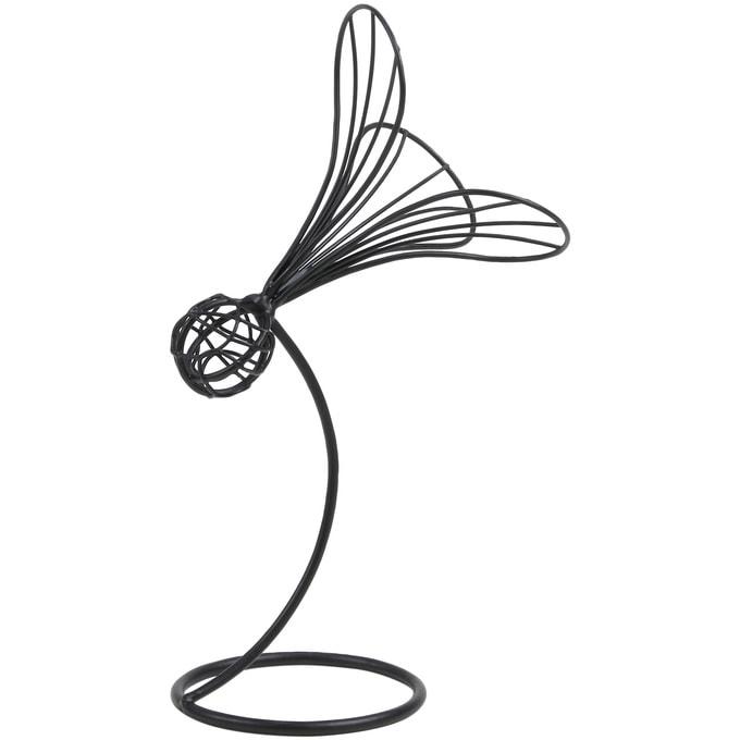 アイアンワイヤースタンド 羽根つき S  ワイヤー オブジェ 和風 日本 和室 アイアン かわいい 白 インテリア 飾り 装飾 ディスプレイ フラワーアレジメント 楽しく