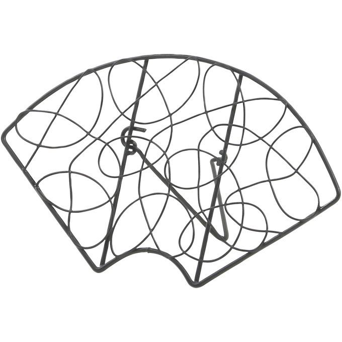 アイアンワイヤー 扇子 無作為模様 折り畳み S  ワイヤー オブジェ 和風 日本 和室 アイアン かわいい 白 インテリア 飾り 装飾 ディスプレイ フラワーアレジメント 楽しく
