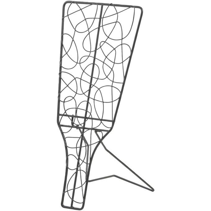 アイアンワイヤー 羽子板 無作為模様 折り畳み L  ワイヤー オブジェ 和風 日本 和室 アイアン かわいい 白 インテリア 飾り 装飾 ディスプレイ フラワーアレジメント 楽しく