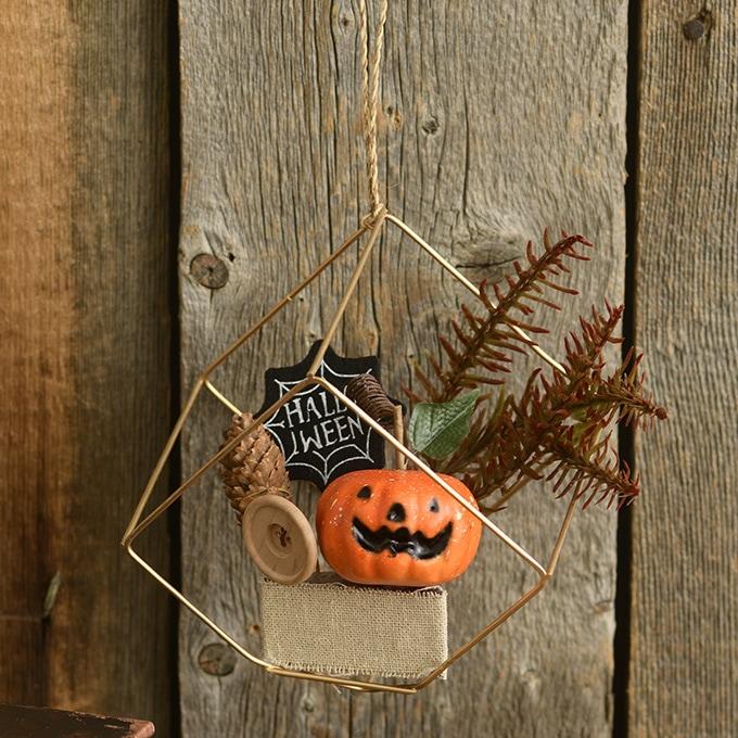 ハロウィン雑貨 パンプキン キューブアレンジ  飾り インテリア オブジェ 置物 かぼちゃ ミニチュア プチ 装飾