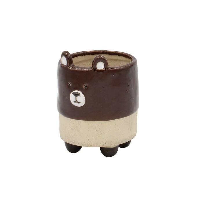 ポップアニマル プランターポット クマ  フラワーポット 動物 かわいい 小さい おしゃれ 鉢 花器 植木鉢 インテリア 置物 オブジェ
