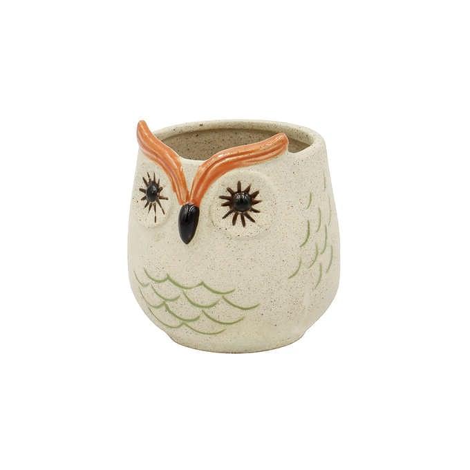 ポップアニマル プランターポット フクロウ S  フラワーポット 動物 かわいい 小さい おしゃれ 鉢 花器 植木鉢 インテリア 置物 オブジェ
