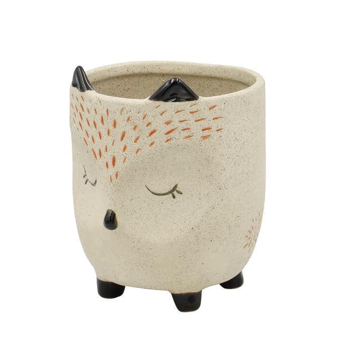 ポップアニマル プランターポット フォックス L  フラワーポット 動物 かわいい 小さい おしゃれ 鉢 花器 植木鉢 インテリア 置物 オブジェ