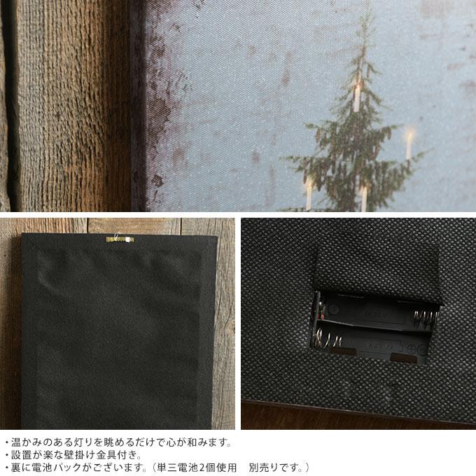 北欧 クリスマス キャンバスクリスマスツリー ライトアップ  クリスマス雑貨 壁掛け 飾り 置物 アート ウォールデコ 写真 インテリア ライト おしゃれ