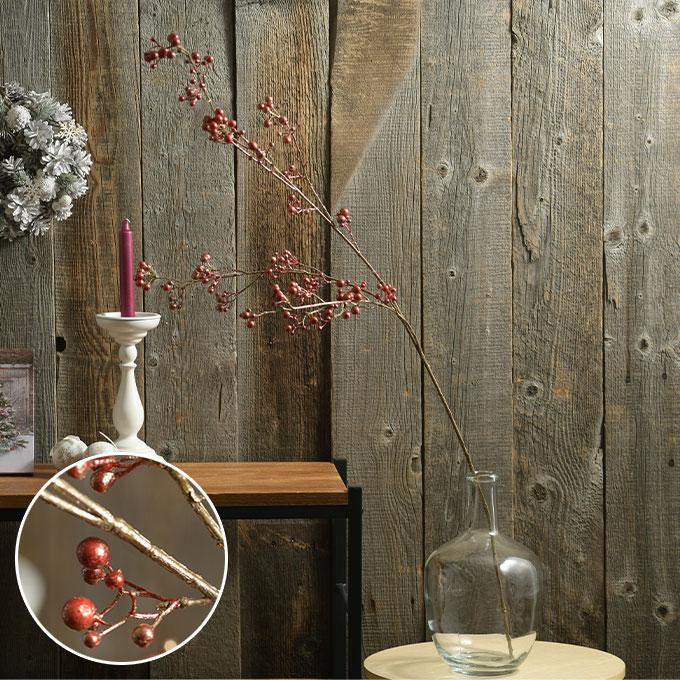 造花 枝 シャインベリー  赤い実 アイアン アイアン フェイク フラワー インテリア アート ブランチ