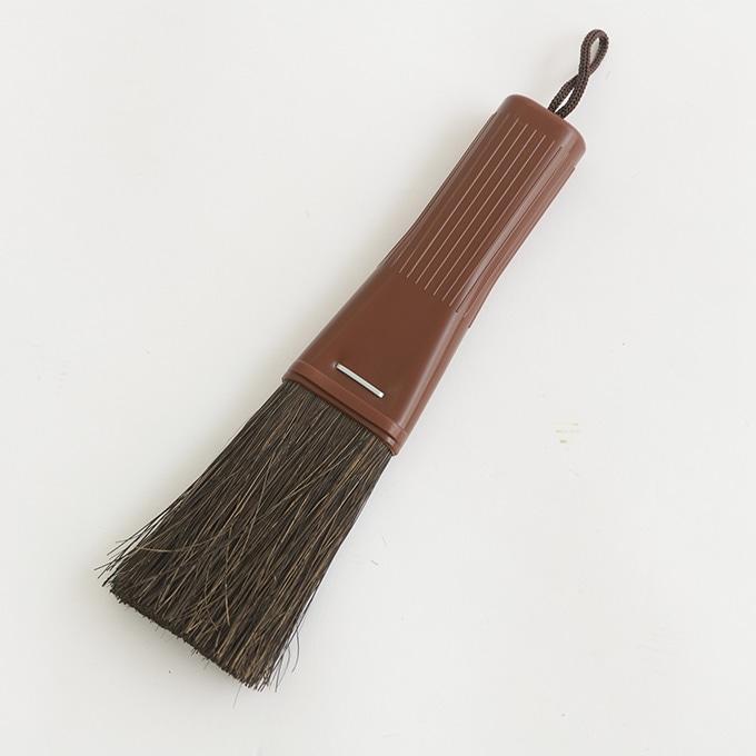 ハンドブラシ 黒シダ ミニホウキ  ほうき 掃除 ミニ ブラシ 溝 桟 隙間 細かい 片手