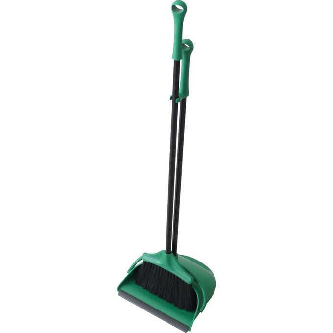 ほうき ちりとり セット おしゃれPORTE グリーン  室内 屋外 緑 掃除道具 玄関 ベランダ 掃除 掃除用具 箒