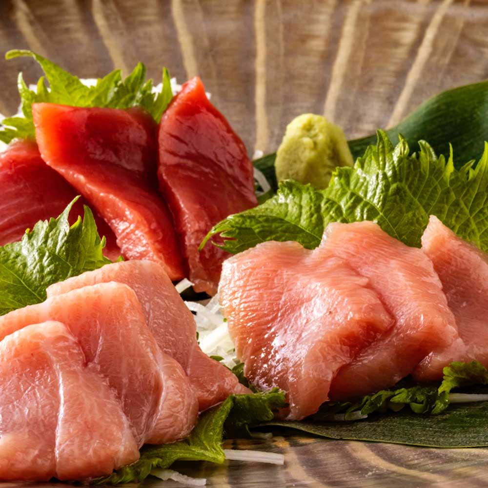 長崎県対馬産「絶品本マグロ」三色丼 1セット