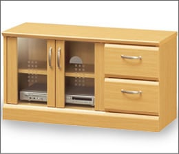 快適収納家具のテレビボード32型