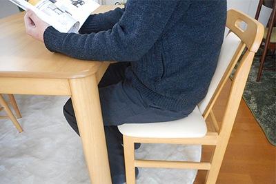 テーブルの高さとの関係