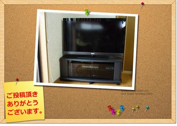 ガラス扉の薄型テレビ台