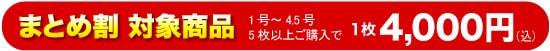 【まとめ割対象商品】5枚以上まとめ購入すると1点4000円になります!