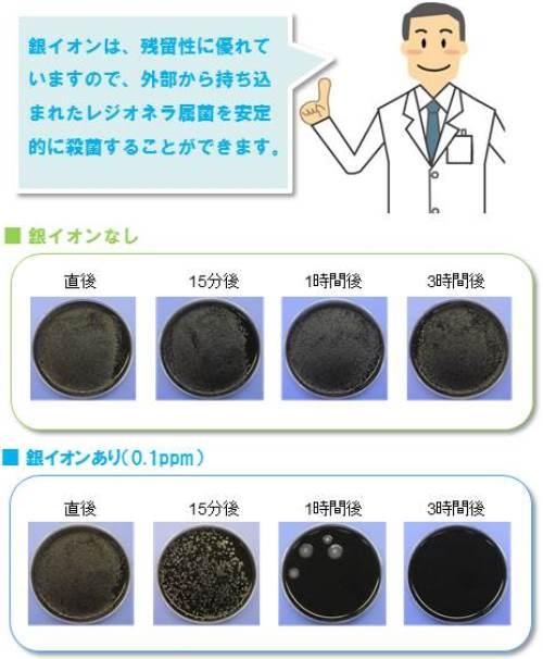 銀イオンのレジオネラに対する殺菌効果2