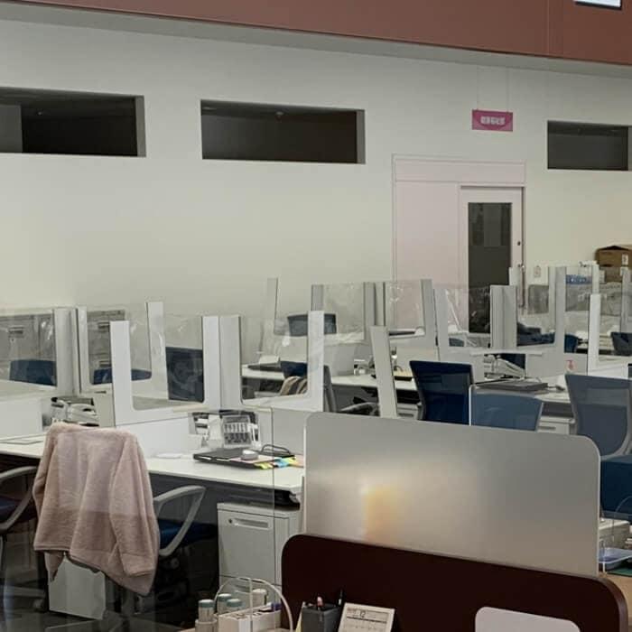 簡易デスクタイプパーテーションの設置事例
