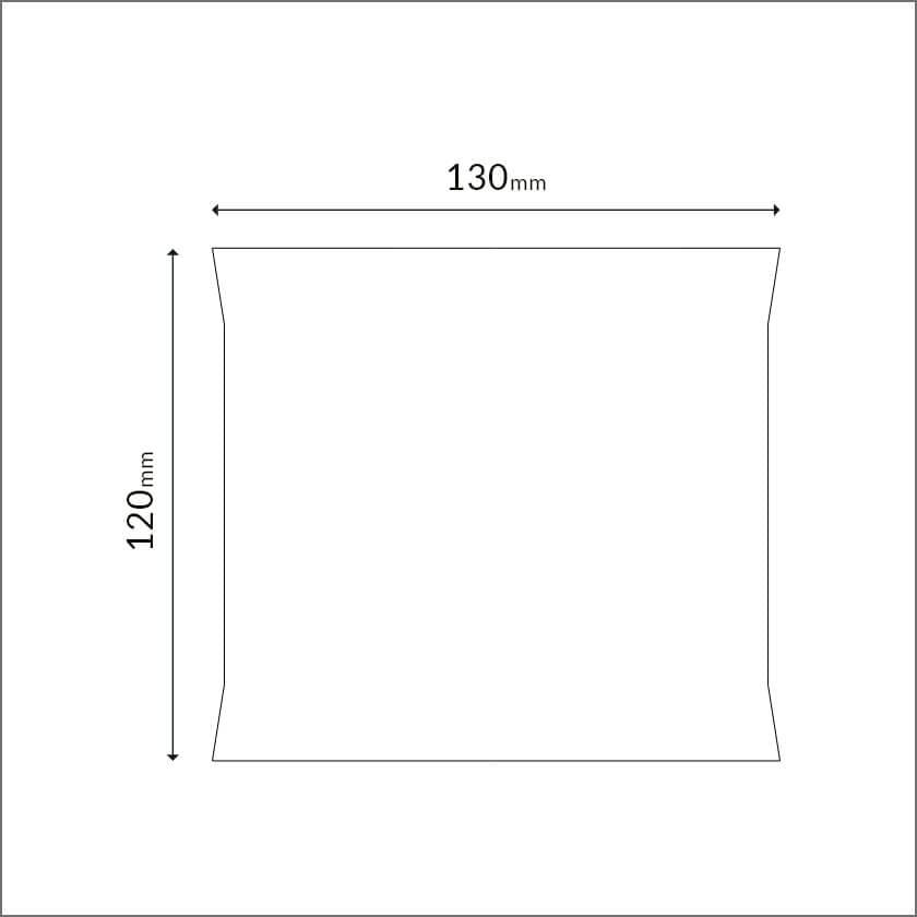 携帯エチケットセットの寸法図