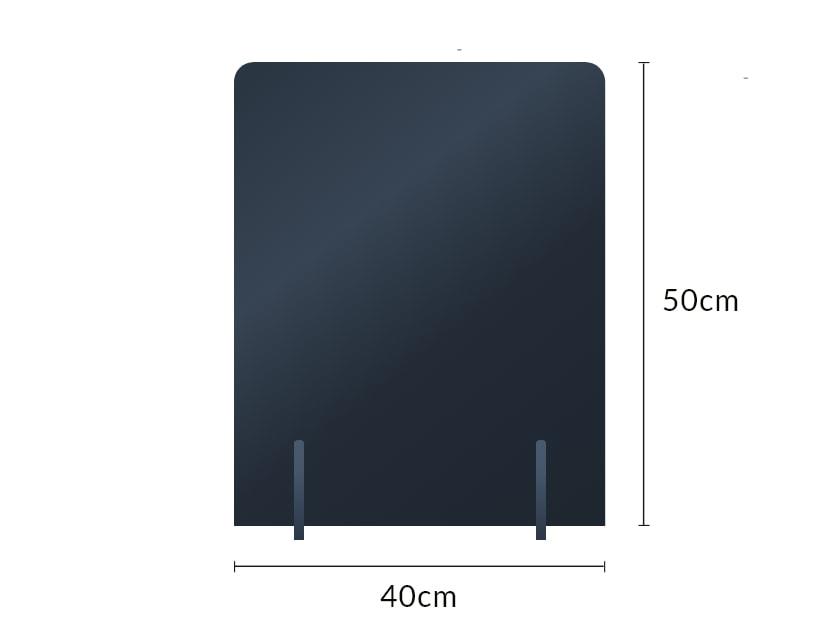 ブラックスチレンパーテーションの寸法図