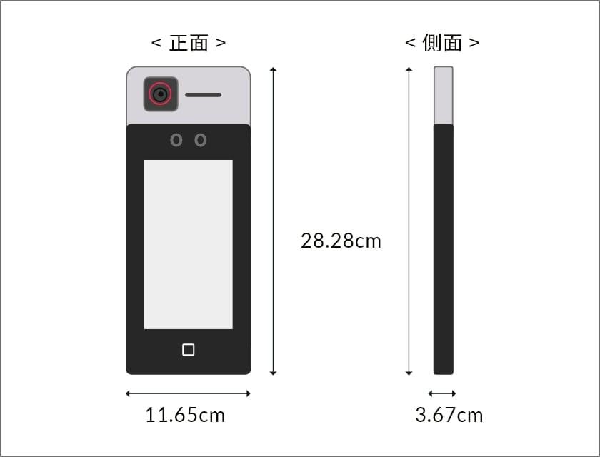 顔認証型AIサーマルカメラ