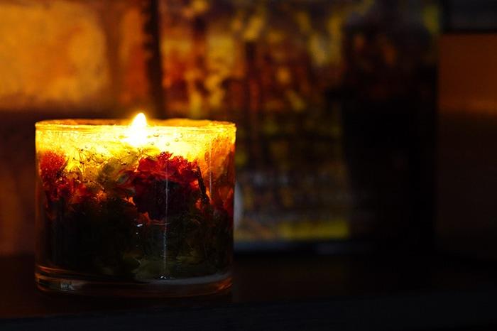 香る灯りお花の ジュエルキャンドル