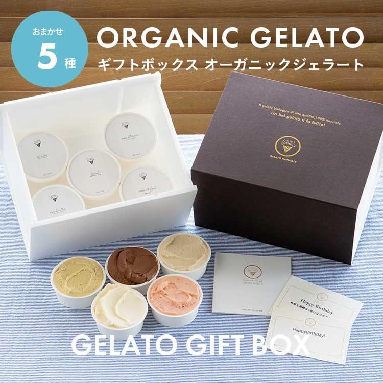 オーガニックジェラート GELATO NATURALE おまかせ5個セット 無添加アイスクリーム