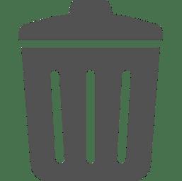 ゴミ箱のアイコン