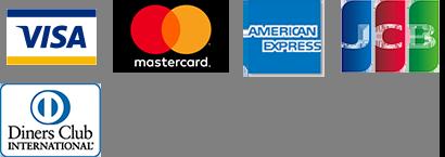 VISA/MasterCard/AMERICAN EXPRESS/JCB/Diners Club