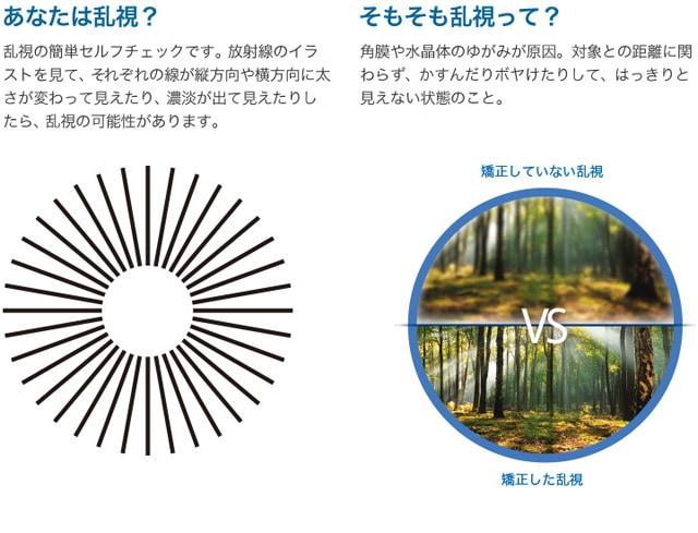 デイリーズアクアコンフォートプラストーリック_そもそも乱視って?角膜や水晶体のゆがみが原因。対象との距離に関わらず、かすんだりボヤけたりして、はっきりと見えない状態のこと