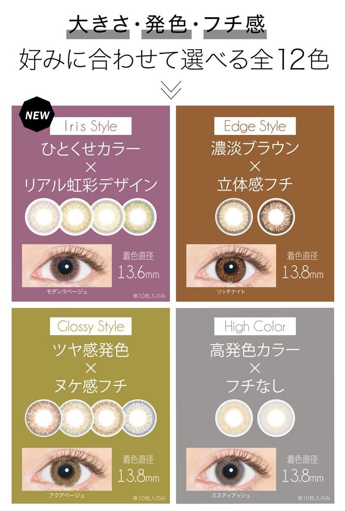 エバーカラーワンデールクアージュ 30枚入り::絶妙カラーバランス。繊細ドットデザイン。瞳に溶け込む高発色