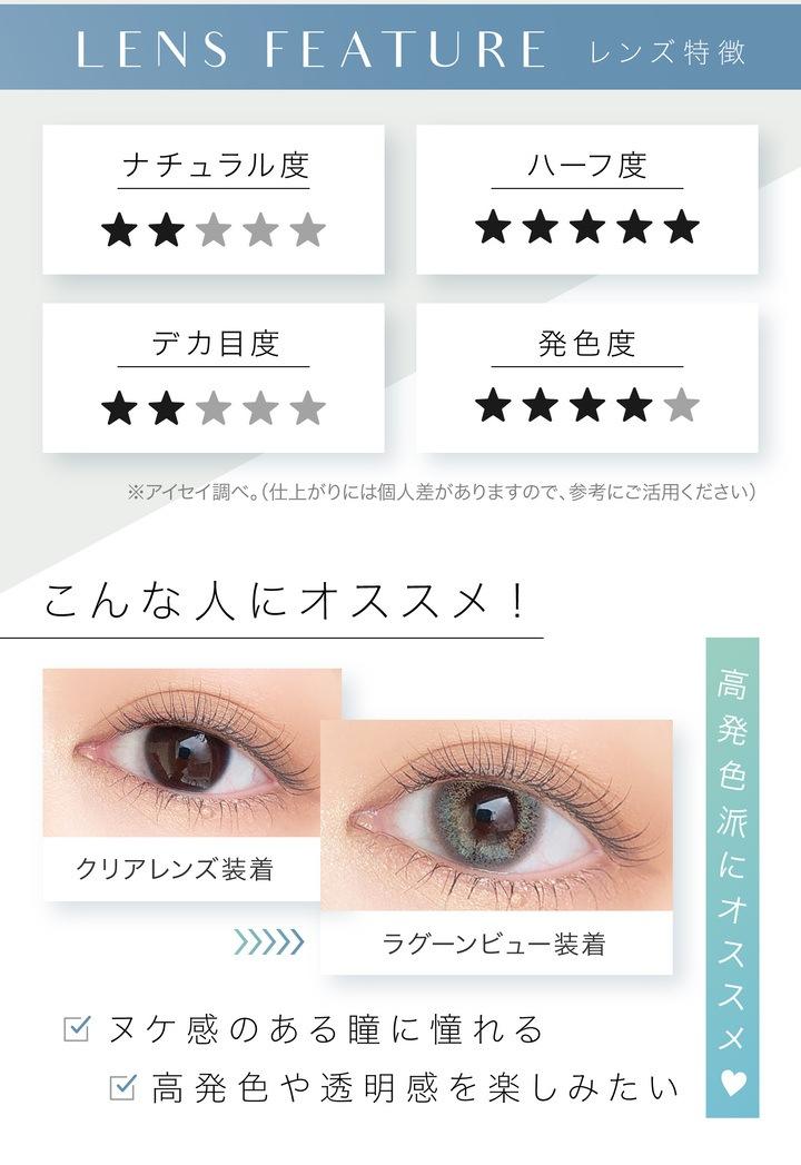 エバーカラーワンデールクアージュ 10枚入り:高発色派にオススメ ヌケ感のある瞳に憧れる 高発色や透明感を楽しみたい