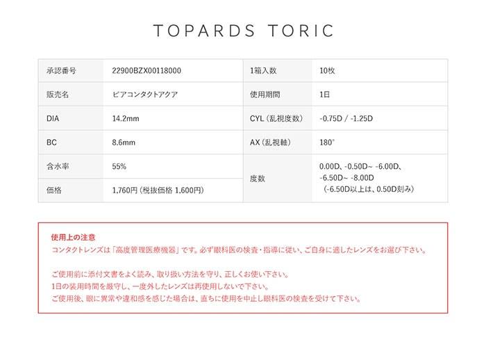 指原莉乃さんプロデュース カラコン TOPARDS(トパーズ) 乱視用 デートトパーズ